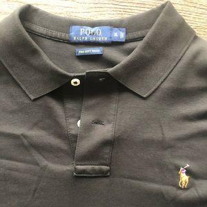 Black Polo Men's Shirt by Ralph Lauren